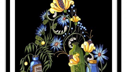 A4 Floral Letter / Victorian Poison
