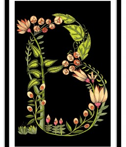 A4 Floral Letter Meadow