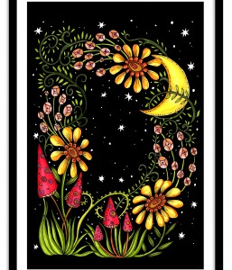 A3 Floral Letter / Moons and Toadstools
