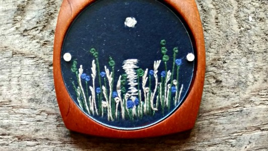 Blue Moon Brooch