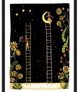 A4 Wall Art Collection / Planetary Circus / Ladders
