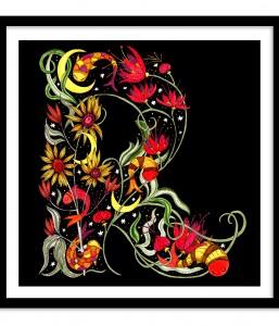 A3 Floral Letter / Subterranean