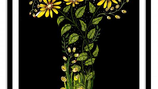 A3 Floral Letter / Saffron