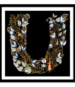 A3 Floral Letter Hedgerow