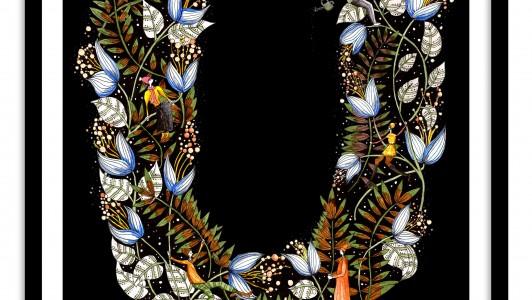 A4 Floral Letter Hedgerow