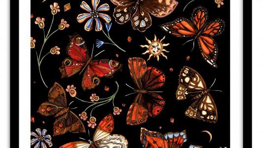 A3 Wall Art Collection / Metanoia / Butterflies