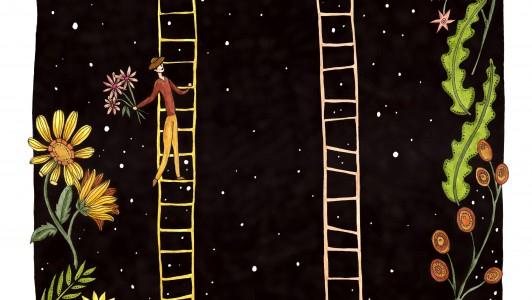 A4 Ladders Print