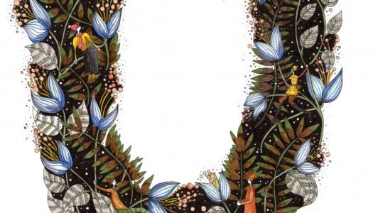 A3 Hedgerow U Art Print