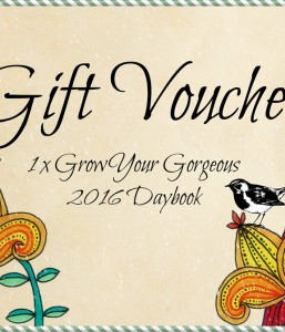 The Grow Your Gorgeous 2016 Daybook Voucher