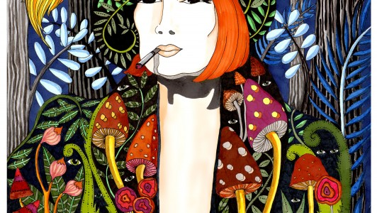 A3 Psilocybin Couture Art Print
